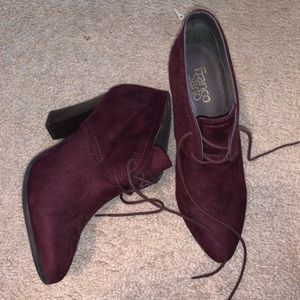 Franco Sarto Red Booties